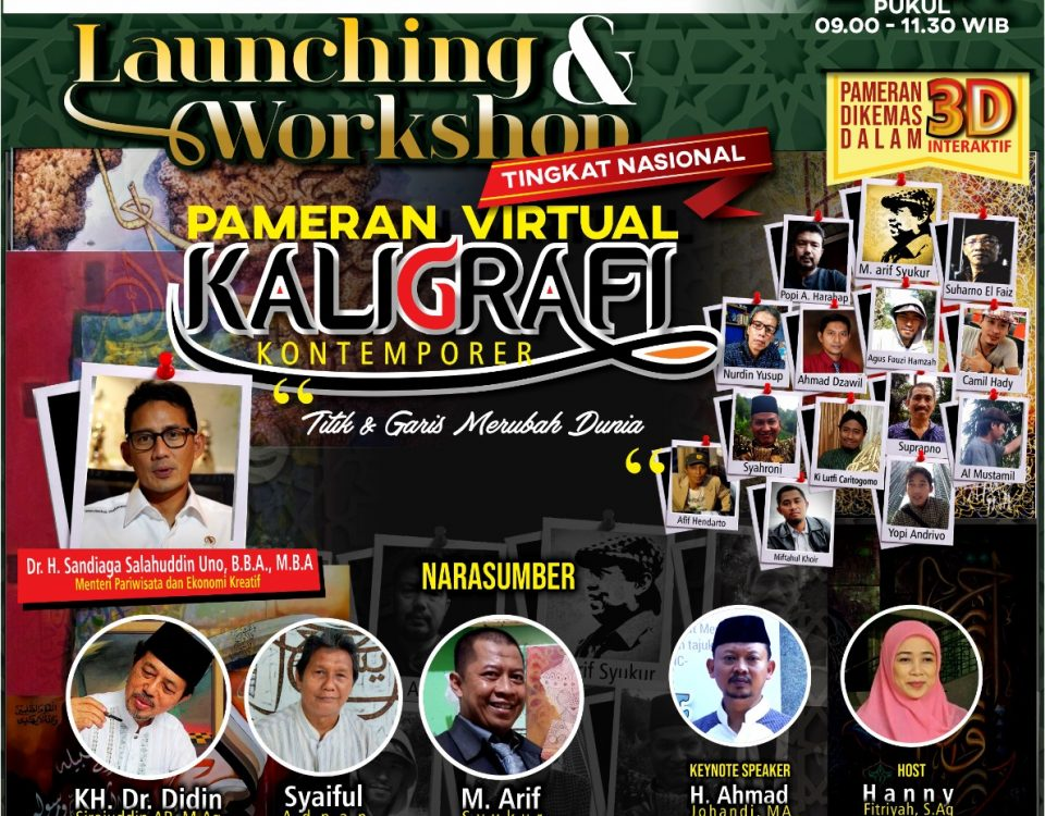 Launching Pameran Virtual Kaligrafi Kontemporer Sandi Uno